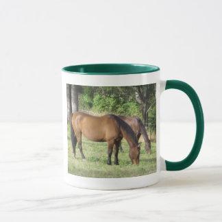 Peaceful grazing horse mug