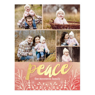 Peaceful Greeting Holiday Photo Card Postcard