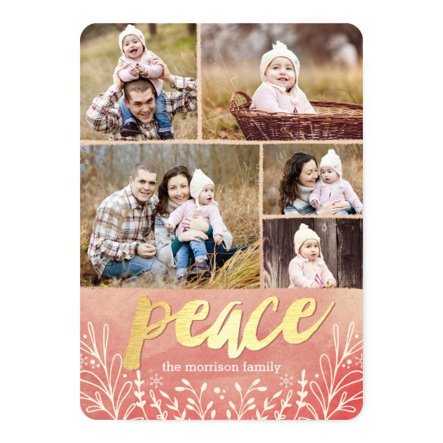 Peaceful Greeting Holiday Photo Cards