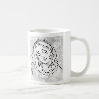 Peaceful heart classic white coffee mug
