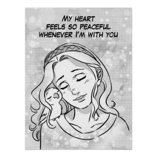 Peaceful heart poster
