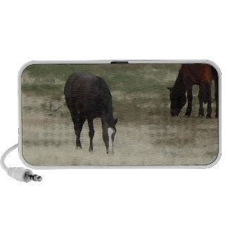 Peaceful Herd of Working Ranch Cow Horses Mini Speaker