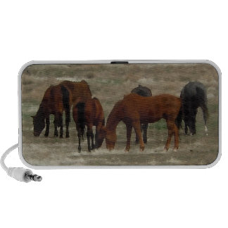 Peaceful Herd of Working Ranch Cow Horses Portable Speaker