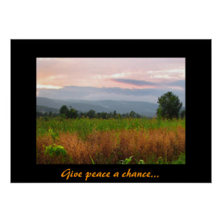Peaceful Hilltop at Sunset Poster