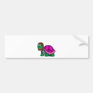 Peaceful Honu gril Bumper Sticker