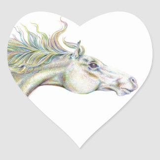 Peaceful Horse Heart Sticker