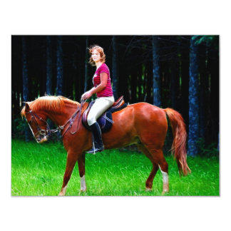 Peaceful horse in the forest card