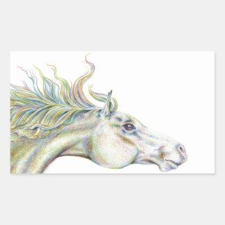Peaceful Horse Rectangular Sticker