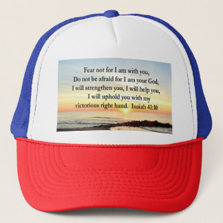 PEACEFUL ISAIAH 41:10 SUNRISE PHOTO TRUCKER HAT