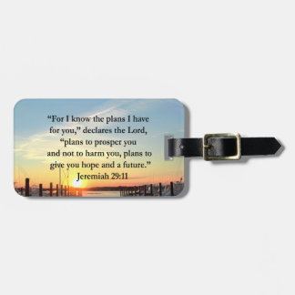 PEACEFUL JEREMIAH 29:11 SUNSET BAG TAG