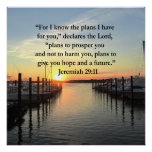 PEACEFUL JEREMIAH 29:11 SUNSET POSTER