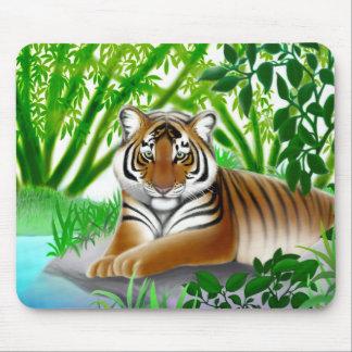 Peaceful Jungle Tiger Mousepad