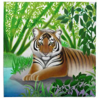 Peaceful Jungle Tiger Napkin