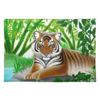 Peaceful Jungle Tiger Placemat