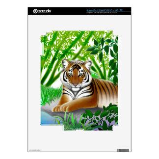 Peaceful Jungle Tiger Zazzle Skin iPad 3 Decal
