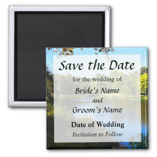 Peaceful Lake Save the Date Magnet