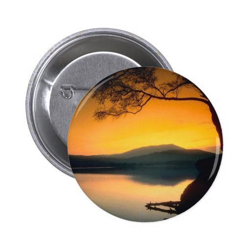 Peaceful Lake Sunset 2 Inch Round Button