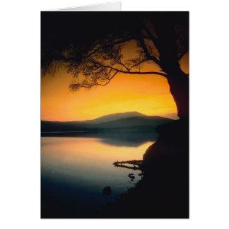 Peaceful Lake Sunset Card