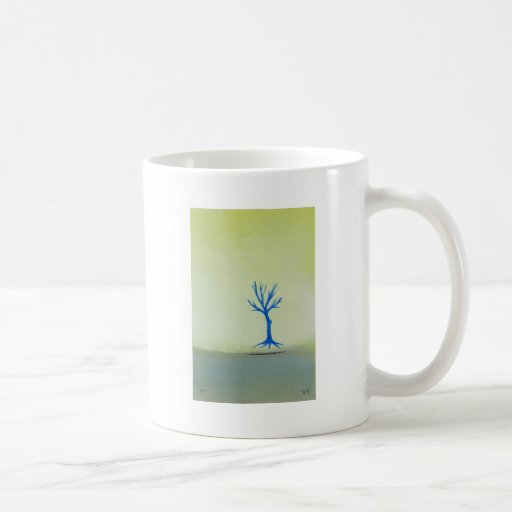 Peaceful landscape art hovering tree painting coffee mugs