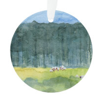 Peaceful Landscape Christmas Ornament