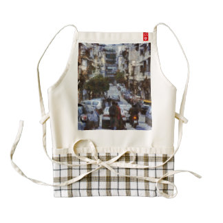 Peaceful lanes of human existence zazzle HEART apron