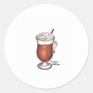 Peaceful Latte Classic Round Sticker