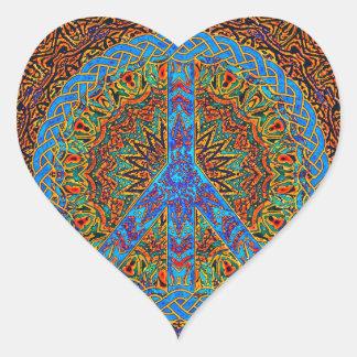 Peaceful Living Heart Sticker