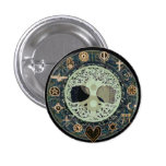 Peaceful Living Retro Yin Yang w/Tree of Life Pins