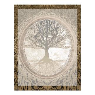Peaceful Living Tree Letterhead