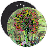Peaceful Living Tree of Life Button