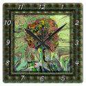 Peaceful Living Tree of Life Square Wall Clock (<em>$31.65</em>)