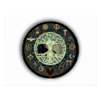 Peaceful Living Yin Yang Postcard