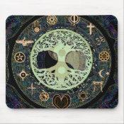 Peaceful Living Yin Yang Tree of Life Mouse Pad (<em>$11.60</em>)