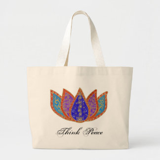 Peaceful Lotus Jumbo Tote