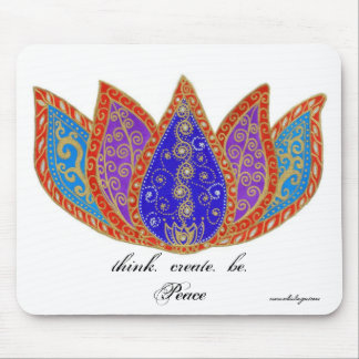 Peaceful Lotus Mouse Pad