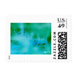Peaceful Marsh Postage Stamp
