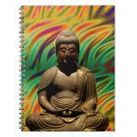 Peaceful Meditating Buddha Prints Note Books