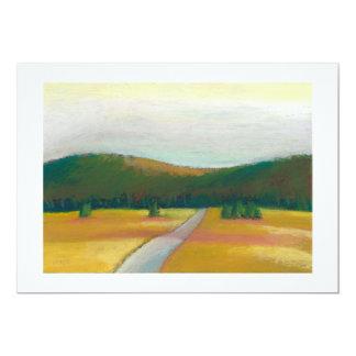 Peaceful modern impressionist landscape art path card