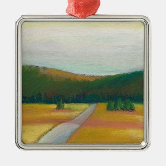 Peaceful modern impressionist landscape art path ornament