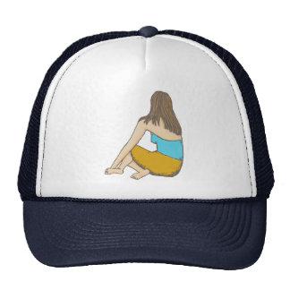 Peaceful Moment, Seated Female Figure Trucker Hat