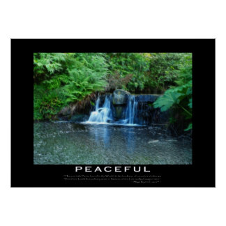 PEACEFUL Motivational Forest Stream Poster