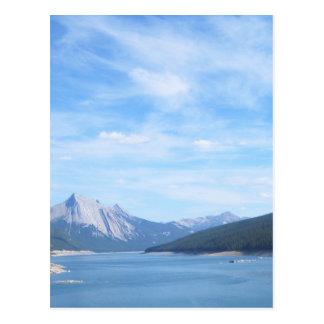 Peaceful, mountain, lake post card