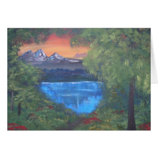Peaceful Mountain Sunset Card