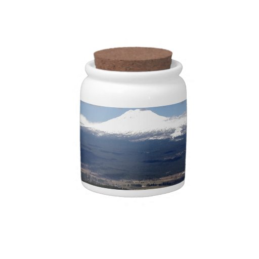 peaceful mountain valley candy dish