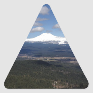 peaceful mountain valley triangle sticker