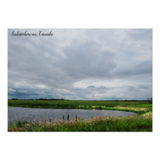 Peaceful Nature | Canadian Prairies Poster