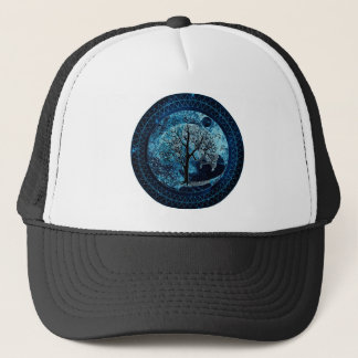 Peaceful Night Trucker Hat