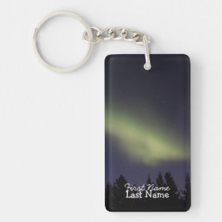 Peaceful Northern Lights; Customizable Keychain