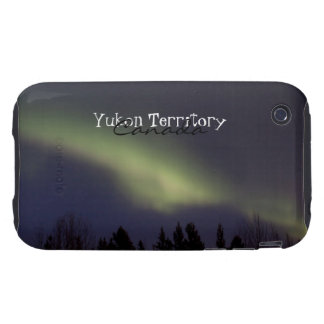 Peaceful Northern Lights; Yukon Souvenir iPhone 3 Tough Cases