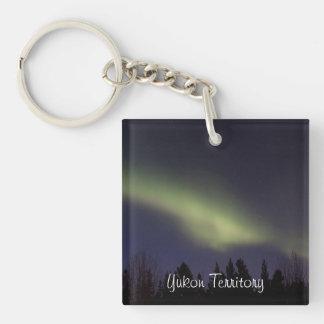 Peaceful Northern Lights; Yukon Souvenir Keychain